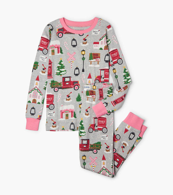 Hatley Christmas Village Kids Pajama Set