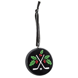 Hockey Dad Puck Ornament