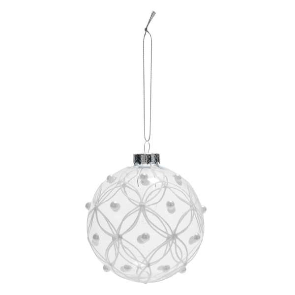 Gemmed Glass Ball Ornament