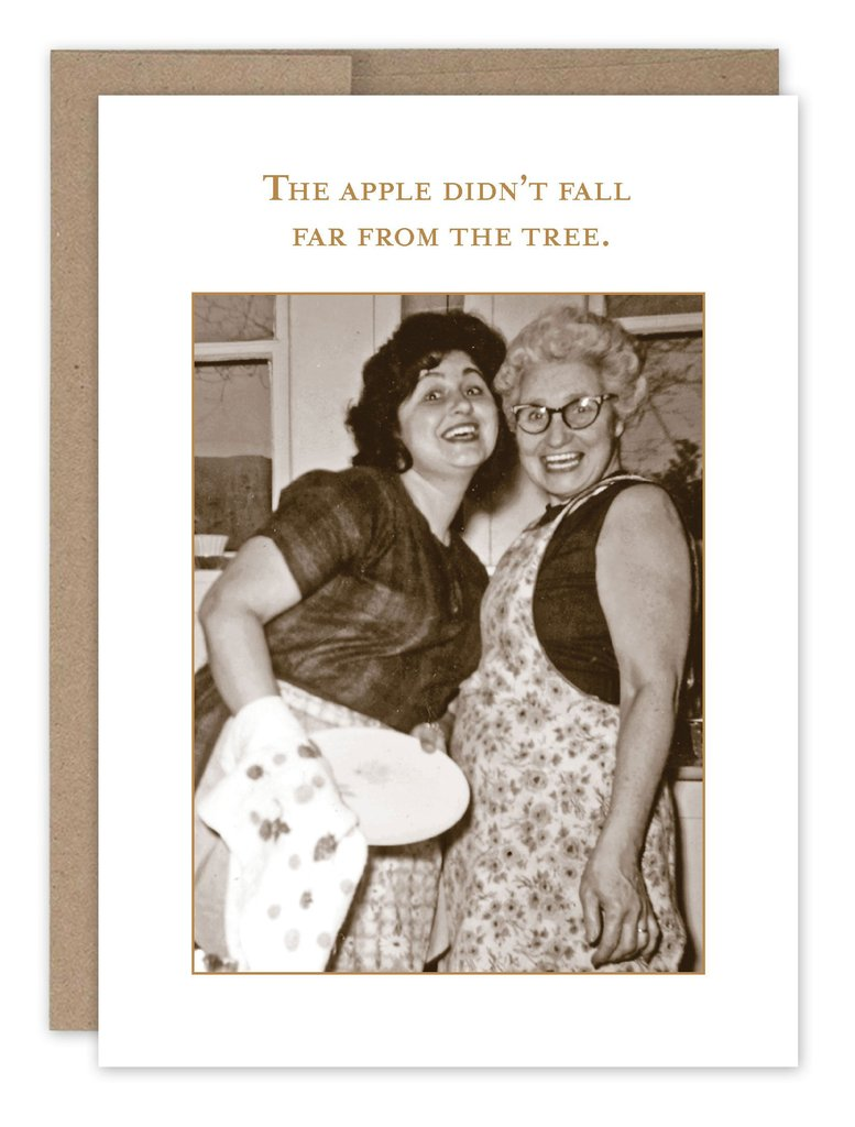 Apple Not Far From the Tree Birthday Card