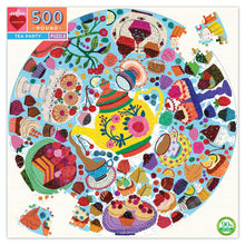 Load image into Gallery viewer, Eeboo Tea Party Round Puzzle