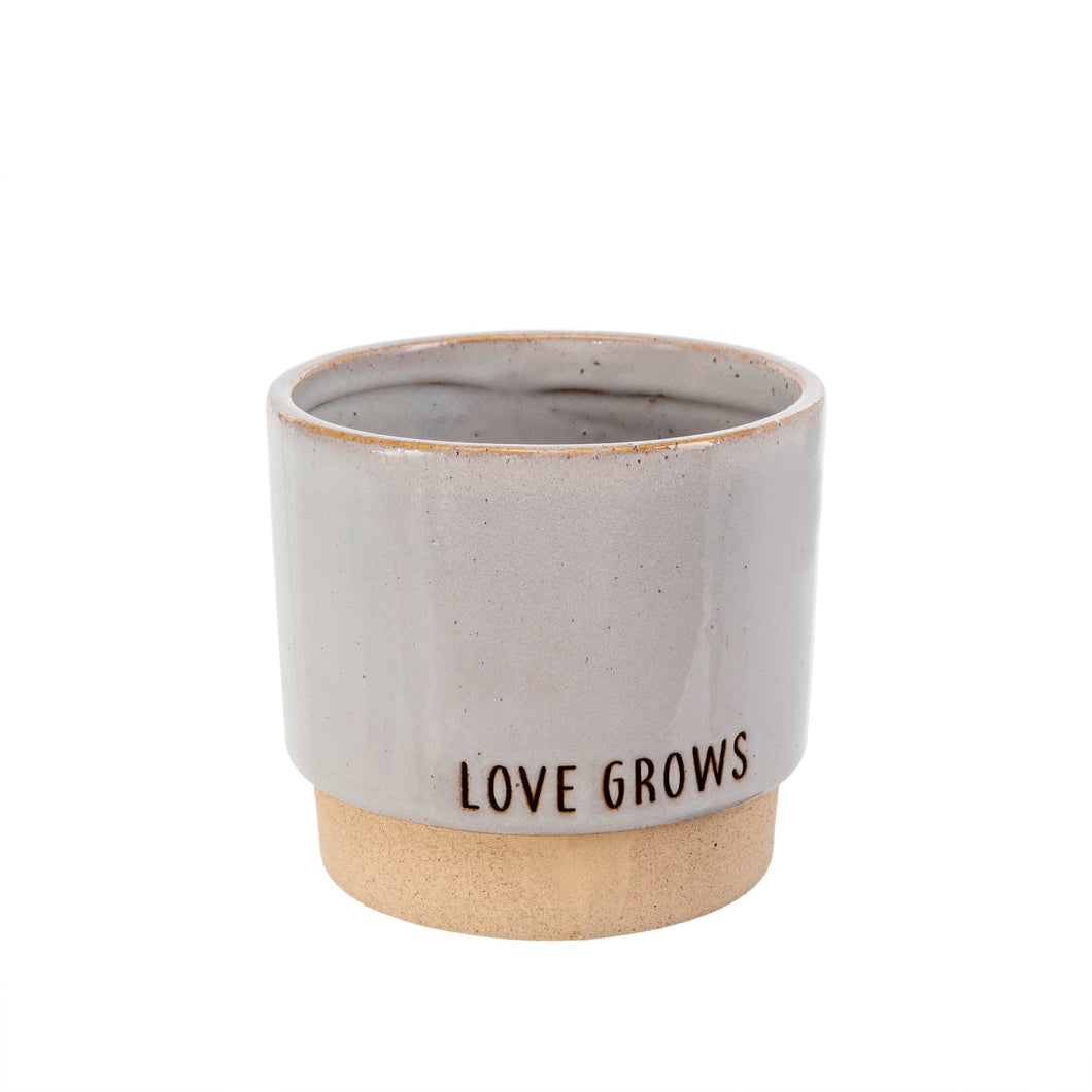 Love Grows Stone Pot