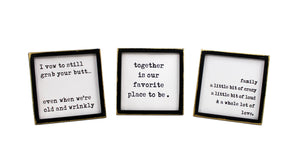 Fun Family Tabletop Signs