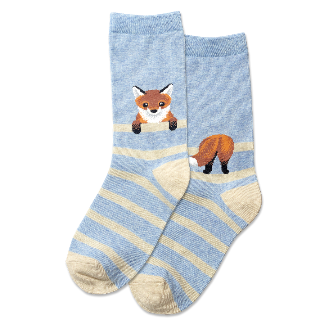 Fox Stripe Kids Socks
