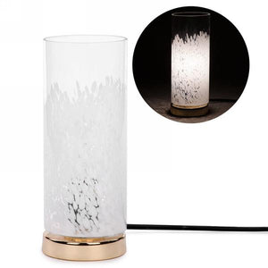 Cylinder Accent Lamp with Gold Base