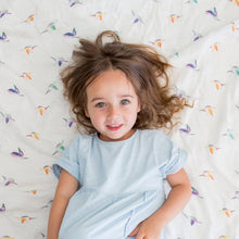 Load image into Gallery viewer, Lulujo Bamboo Muslin Swaddle - Hummingbird