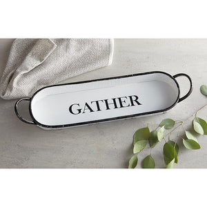 Gather Oval Tray