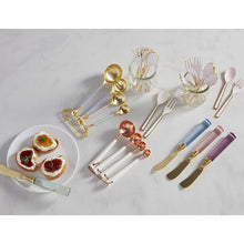 Load image into Gallery viewer, White & Gold Fork Set