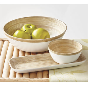 Bamboo Lacquer Serving Bowl