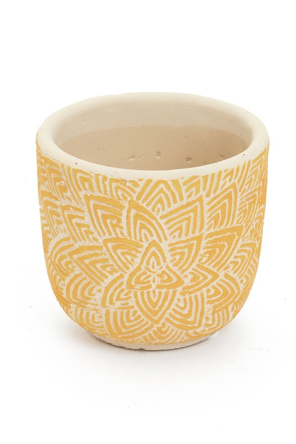 Lotus Planter, Yellow