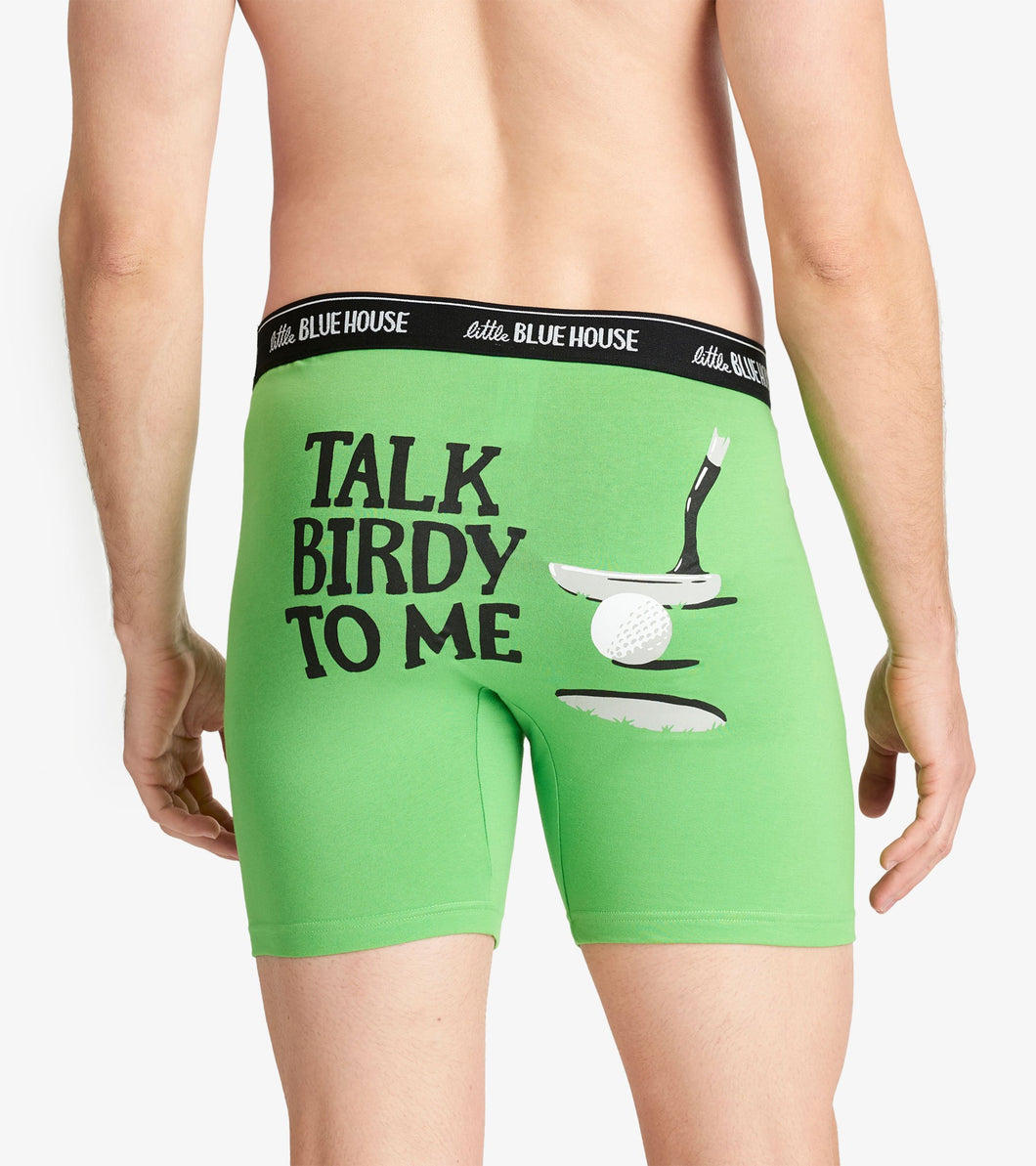 Hatley Men's Boxer Brief Talk Birdie To Me
