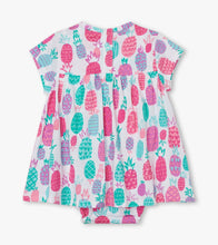Load image into Gallery viewer, Pineapple Doodles Baby One-Piece Dress by Hatley