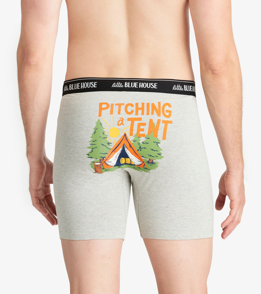 Hatley Men's Boxer Brief Pitching A Tent