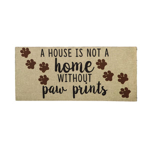 Sassafras Home with Paw Prints Insert