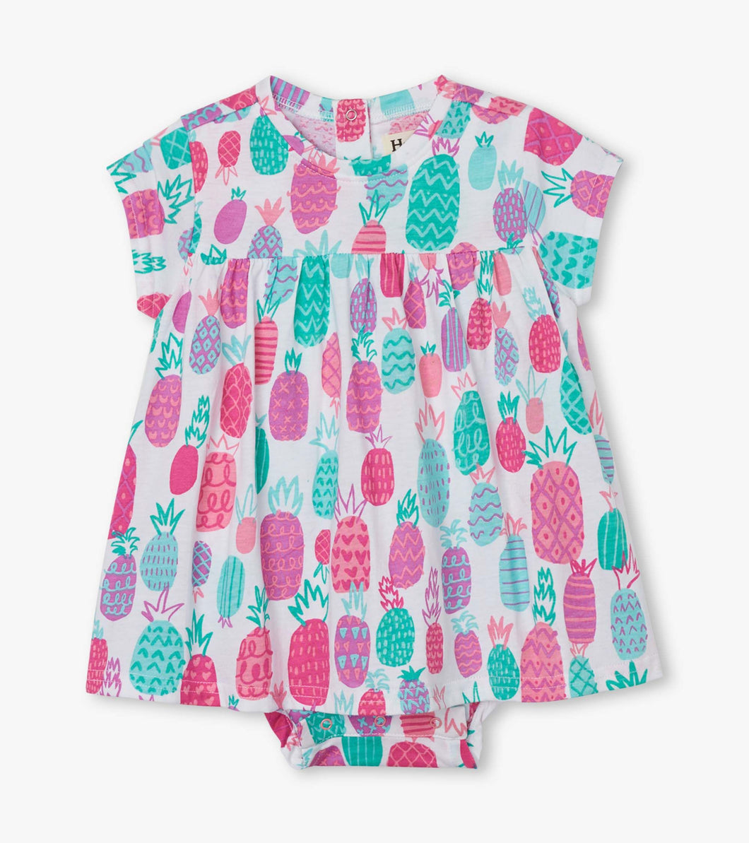Pineapple Doodles Baby One-Piece Dress by Hatley