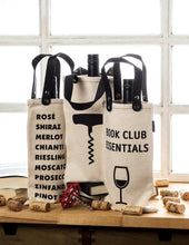 Load image into Gallery viewer, Book Club Essentials Wine Tote