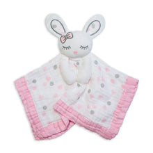 Load image into Gallery viewer, Lulujo Muslin Lovey - Pink Bunny