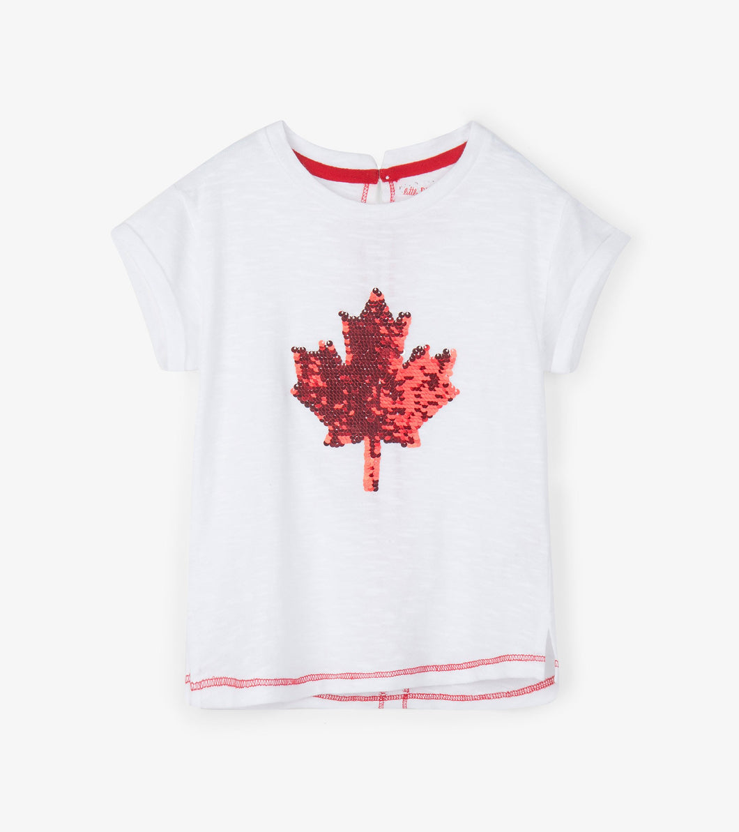 Hatley Kids Maple Leaf Flip Sequin Tee