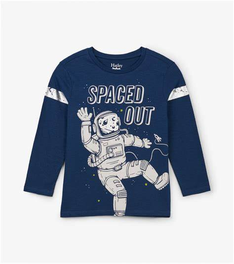 Spaced Out Long Sleeved Tee by Hatley