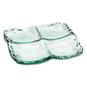 Azores Recycled Glass Platter 4 section