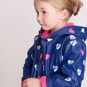 Hatley Rainbow Heart Raincoat