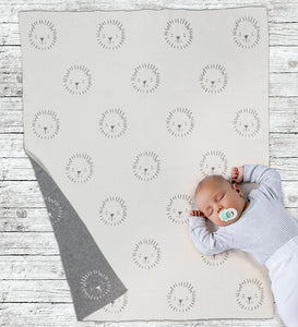 Lion Face Baby Throw