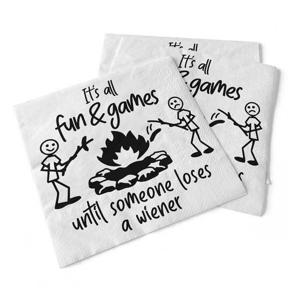 Fun and Games Beverage Napkins