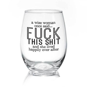 Wise Woman Wine Glass
