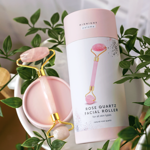Midnight Paloma Rose Quartz Facial Roller