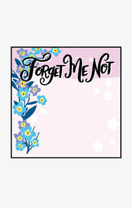 Forget Me Not Sticky Notes by Hatley