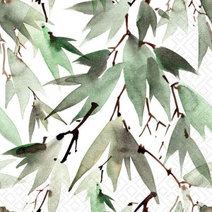 Watercolour Leaves Lunch Napkin
