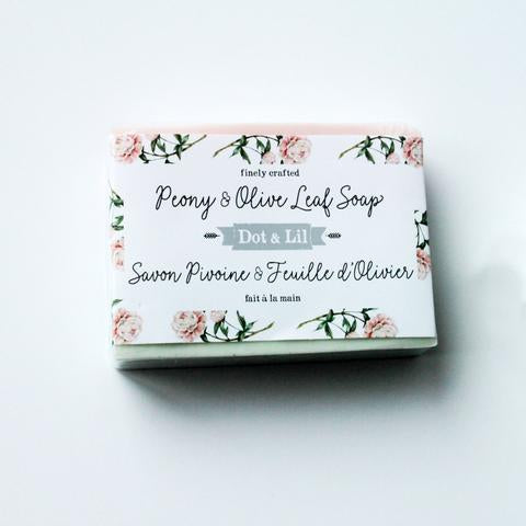 Dot & Lil Peony & Olive Leaf Bar Soap