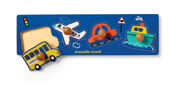 Crocodile Creek Wood Knob Puzzle Vehicles