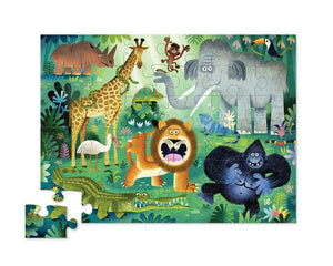 Crocodile Creek Puzzle Wild Animals