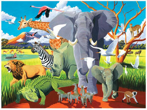 Crocodile Creek Wild Safari Family Puzzle