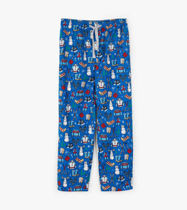 Hatley Navy Winter Traditions Men's Flannel Pajama Pants