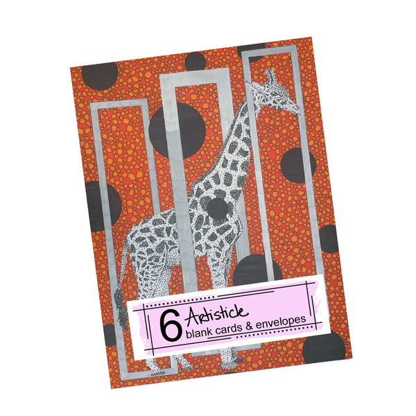 Another Giraffe Note Cards, set of 6 blank cards with envelopes
