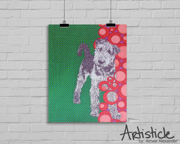 Airedale Terrier Signed Art Print