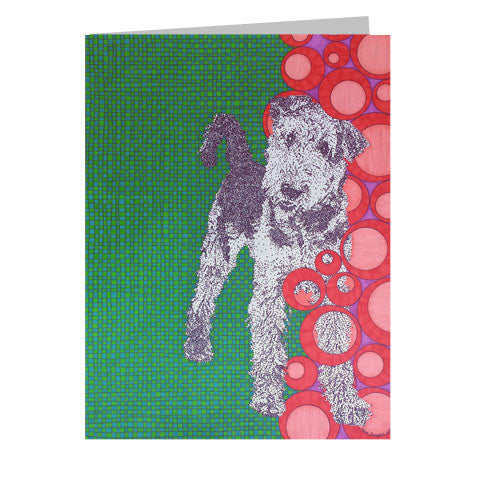 Airedale Terrier 5x7 Greeting Card