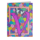 Butterfly Alphabet 5x7 Greeting Card, Select Your Initial