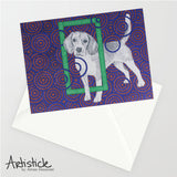 Beagle 5x7 Greeting Card