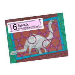 Brontosaurus Note Cards, set of 6 blank cards with envelopes
