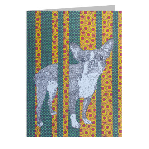 Boston Terrier 5x7 Greeting Card