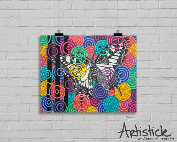 Candied Butterfly signed art print