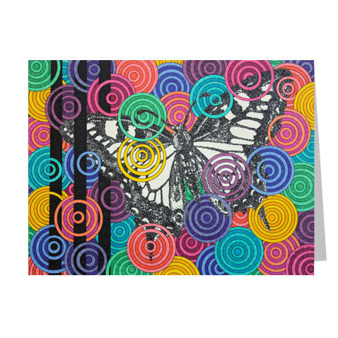Candied Butterfly 5x7 Greeting Card