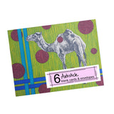 Camel Note Cards, set of 6 blank cards with envelopes