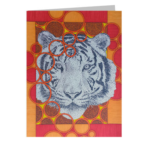 Citrus Tiger 5x7 Greeting Card