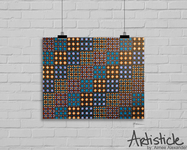 Circles Into Squares signed art print