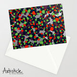 Dino Skin Note Cards, set of 6 blank cards with envelopes