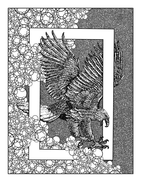 FREE Eagle Digital Coloring Page